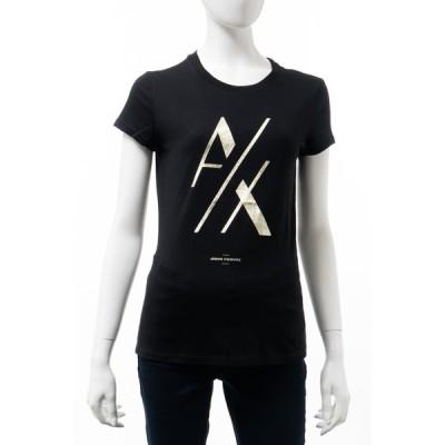 アルマーニ エクスチェンジ Tシャツ 半袖 丸首 クルーネック レディース 6GYTAK YJ73Z ブラック ARMANI EXCHANGE