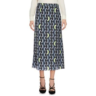 ミュウミュウ MIU MIU 7分丈スカート ブラック 40 シルク 100% 7分丈スカート