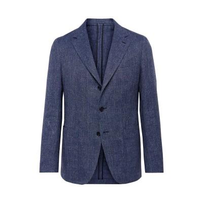 カルーゾ CARUSO テーラードジャケット ダークブルー 50 リネン 52% / コットン 48% テーラードジャケット