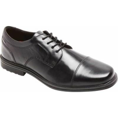ロックポート メンズ ドレスシューズ シューズ Men's Rockport Taylor Waterproof Cap Toe Oxford Black Leather