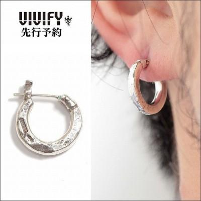 ビビファイ VIVIFY ピアス フープピアス シルバーHammered Hoop Pierce(S)/3mmbody 受注生産