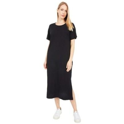 モッドドック レディース ワンピース トップス New Slub Jersey Short Sleeve Midi T-Shirt Dress