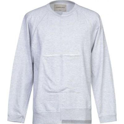 コラレート CORELATE メンズ スウェット・トレーナー トップス sweatshirt Light grey
