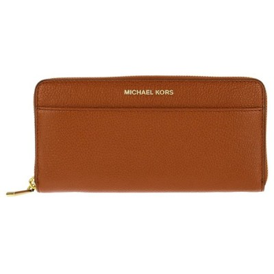 MICHAEL 32S7GM9E9L-230 マイケルコース ラウンドファスナー長財布 レザー ブラウン×ゴールド
