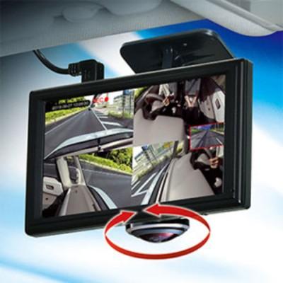 セイワ ディスプレイ搭載ドライブレコーダー前・左右・車内撮影対応 SEIWA 360EYEドライブレコーダー PDR650SV 【返品種別A】