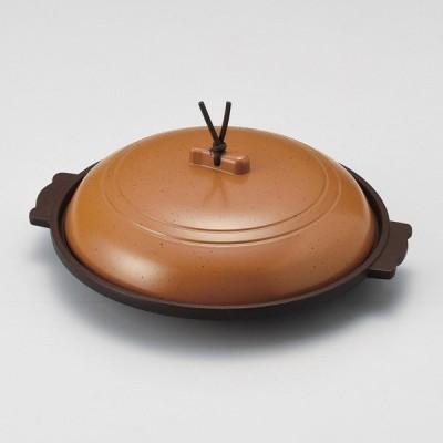 (業務用・陶板)梨地18cm丸陶板(アルミ)[58204-648](入数:5)