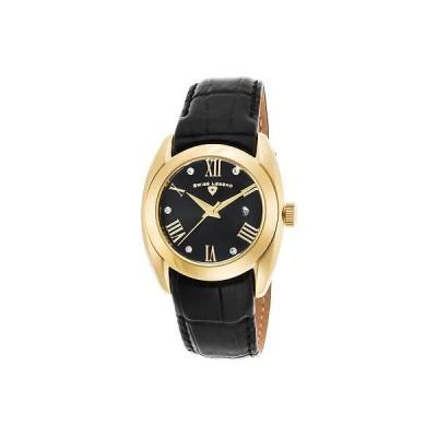 スイスレジェンド 腕時計 スイス レジェンド レディース 腕時計 Liberty 34ミリ SL-10550-YG-01 ブラック ダイヤル