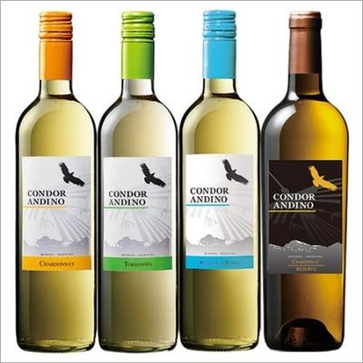 コンドール・アンディーノ・シリーズ品種飲み比べ白ワイン4本セット