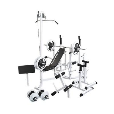 《パッドプレゼント中》 マルチフルセット 白ラバー100kg / 筋トレ トレーニング器具 ダンベル バーベル ベンチプレス ホームジム