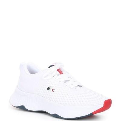 ラコステ レディース スニーカー シューズ Women's Court-Drive 0120 3 Lace-Up Sneakers White/Navy/Red