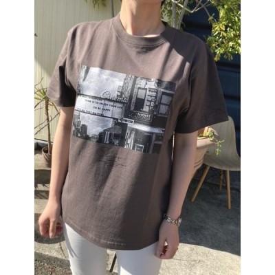 ハンチ Tシャツ Hunch WTS6066 フォトプリント ビッグシルエットTシャツ【09.チャコール】