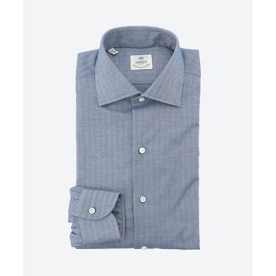 <Luigi Borrelli(Shirts & Tie)/ルイジ ボレッリ> ドレスシャツ/LUCIANO ブルー【三越伊勢丹/公式】