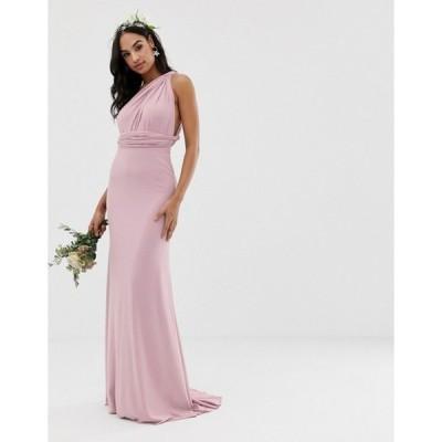 ティエフエヌシー レディース ワンピース トップス TFNC bridesmaid exclusive multiway maxi dress in pink