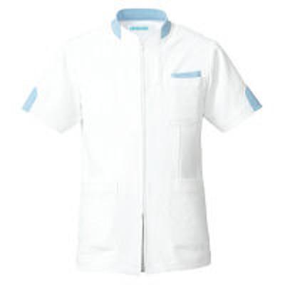 KAZENKAZEN ジャケット半袖(男女兼用) サックスブルー(水色) M 248-21(直送品)