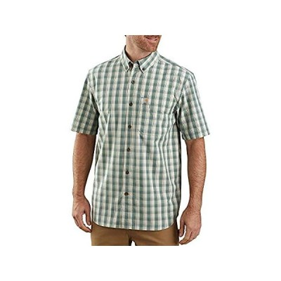 特別価格Carhartt Men's 104174 Relaxed Fit Lightweight Plaid Shirt - Large Regular -好評販売中