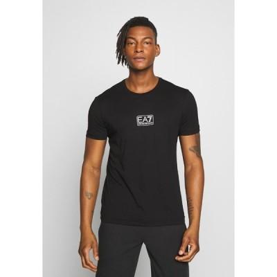 エンポリオ アルマーニ Tシャツ メンズ トップス Print T-shirt - black