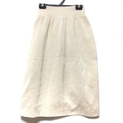 セリーヌ CELINE スカート サイズ40 M レディース - アイボリー ひざ丈/ニット【中古】20210310