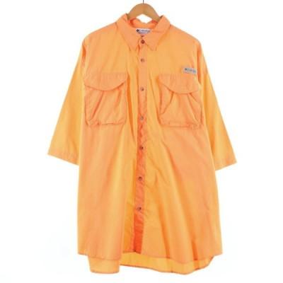コロンビア Columbia PFG UPF30+ 半袖 フィッシングシャツ メンズXXL /eaa156555