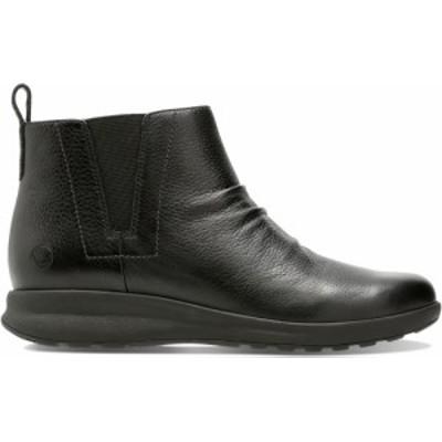 Clarks(クラークス) Un Adorn Mid Black Leather カジュアル シューズ 26136847 レディース