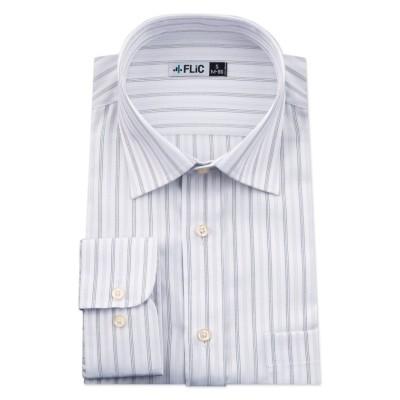 【フリック】 ワイシャツ メンズ ショートワイド ワイド 長袖 形態安定 シャツ ドレスシャツ ビジネス ノーマル スリム yシャツ カッターシャツ 定番 ストライプ ドビー メンズ その他 LL(85)ノーマル FLiC