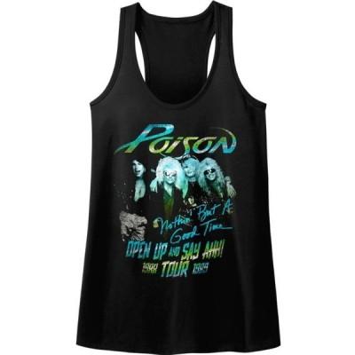 レディース 衣類 トップス Poison Tour Nothin But A Good Time Talk Dirty Rock Womens Tank Top タンクトップ