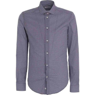 ブライアン デールズ BRIAN DALES メンズ シャツ トップス patterned shirt Maroon