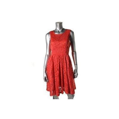 ドレス 女性  海外セレクション Plenty ドレスes Tracy Reese 4932 レディース レッド Lace Pleated カジュアル ドレス 2