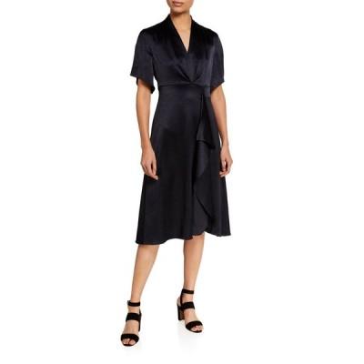 エリータハリ レディース ワンピース トップス Shiran Short-Sleeve Satin Dress