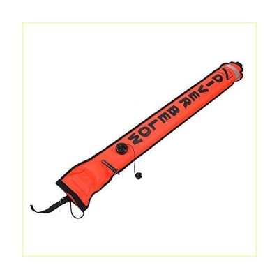 5ft Surface Marker Buoy, Diving Inflatable Marker with High Visibility Reflective Band, Inflatable Scuba Diving SMB, Surface Signal Marker,