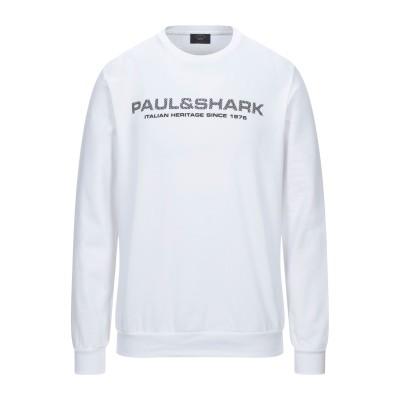 ポール・アンド・シャーク PAUL & SHARK スウェットシャツ ホワイト L コットン 100% スウェットシャツ