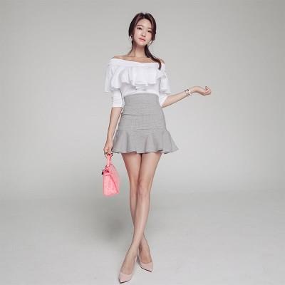 ストレッチスカート春と秋のハイウエスト、タイトなスカート、タイトなスカート、魚の尾のスカートの女性