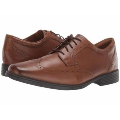 Clarks クラークス メンズ 男性用 シューズ 靴 オックスフォード 紳士靴 通勤靴 Tilden Wing Dark Tan Leather【送料無料】
