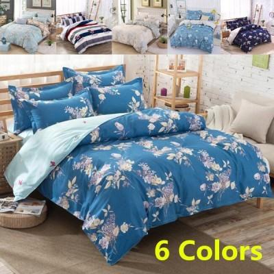 シーツ セット 枕カバー  布団カバー ベッド用品 寝具 4点 セットセミダブル シングル 綿 コットン