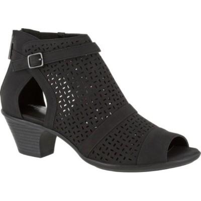 イージーストリート Easy Street レディース ブーツ オープントゥ シューズ・靴 Carrigan Open Toe Bootie Black Synthetic