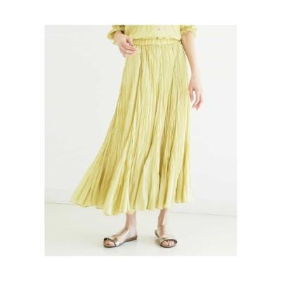 MICHEL KLEIN / 【洗える/セットアップ対応】ワッシャーローンロングスカート