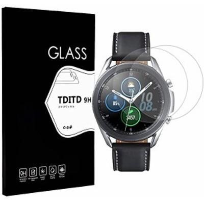Galaxy watch 3 45mm 強化ガラス 2枚入 Galaxy watch 3 45mm 液晶保護フィルム Galaxy watch 3 45mm ガラスフィルム 日本製素材 ...