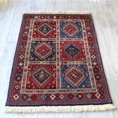トライバルラグ・部族絨毯/イラン南部ヤラメ Yarameh 127x81cm玄関マットアクセントラグ/ガーデンデザイン