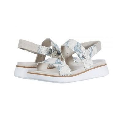 Cole Haan コールハーン レディース 女性用 シューズ 靴 サンダル Zerogrand Global Double Band Sandal - Ivory Chalk Snake Print/Optic White