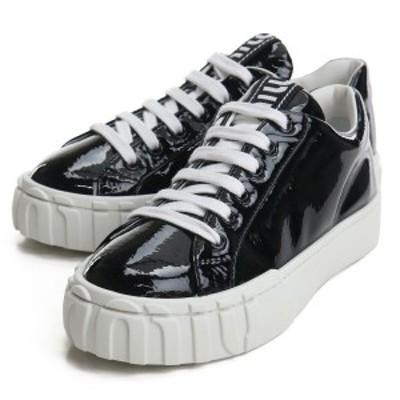 【新品】 ミュウミュウ MIUMIU レディーススニーカー 5E187D 3LBN F 005 F0002 NERO ブラック bos-32 shoes-01 レディース