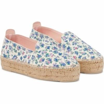 ラブシャックファンシー LOVESHACKFANCY レディース エスパドリーユ シューズ・靴 x Manebi floral platform leather espardrilles Bluej
