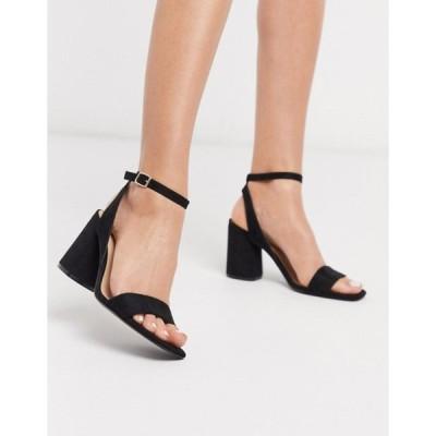 ストラディバリウス レディース サンダル シューズ Stradivarius black heel sandal