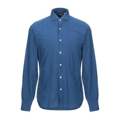XACUS シャツ ダークブルー 44 コットン 100% シャツ