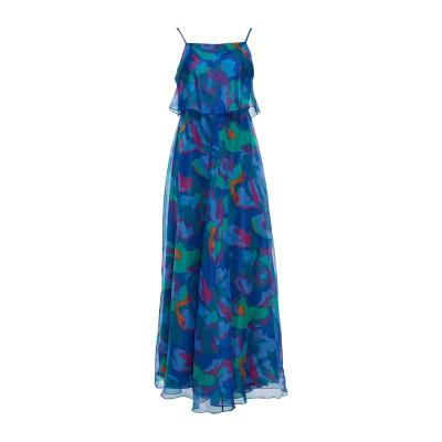 エンポリオ アルマーニ EMPORIO ARMANI 7分丈ワンピース・ドレス ブルー 38 シルク(マルベリーシルク) 100% 7分丈ワンピース