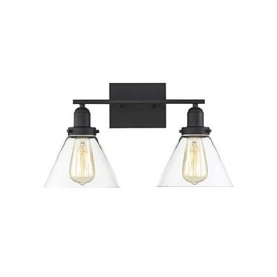 [新品]Savoy House照明8???9130???2-bk Drake 2ライト18インチブラックバスバー壁ライト