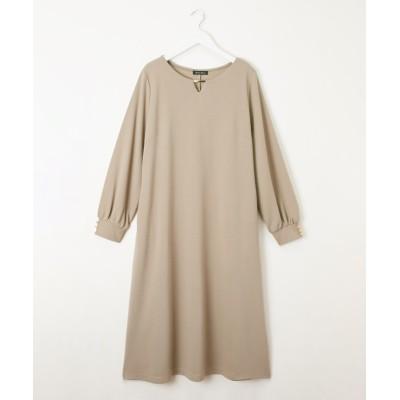ゴールドバー使い リップル ワンピース【リモート映え】 (ワンピース)Dress
