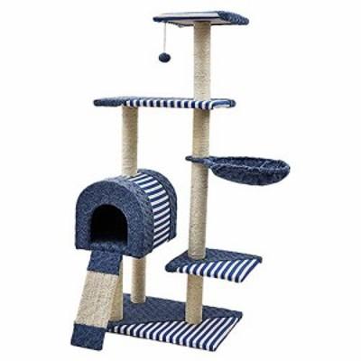 猫のクライミングフレーム大きな猫のスクラッチ列木製の猫砂猫猫猫スクラッ(中古品)