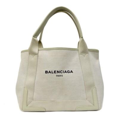 バレンシアガ BALENCIAGA ショルダーバッグ ネイビーカバ ホワイト 中古