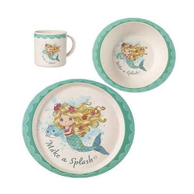 Precious Moments Mermaid Toddler Mealtime Feeding Set: Plate, Bowl, Cup, Mu