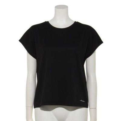 【Rewde】★高機能★フレンチスリーブロゴTシャツ(0R15-06129) (クロ)