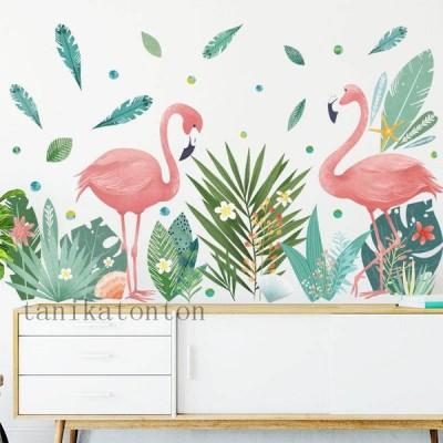 心暖まる ロマンチック フラミンゴ ウォールステッカー 寝部屋 飾り おしゃれ 壁紙 壁ステッカー